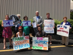 Visibility Action to support Senator Ted O'Brien - 2013
